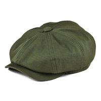 Botvela Newsboy Kap Erkek Dimi Pamuk Sekiz Panel Şapka Bayan Baker Çocuk Kapaklar Retro Büyük Şapkalar Erkek Boina Green Bere 003 210421