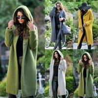 2020 الشتاء المرأة متماسكة سترة مقنعين معطف سترة معطف سيدة بلون سميكة لينة الأزياء سترة متماسكة سترة طويلة 1