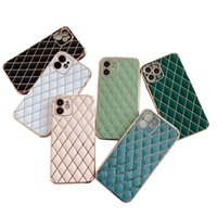 Electroplating 6D Cell Phone Cases Diamond Lattice TPU Soft Sheath Suitable For iPhone 7 8 11 12 13PRO