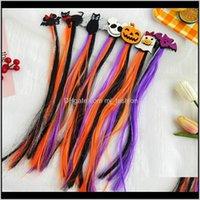 Clips & Jewelry Drop Delivery 2021 Clip Baby Girls Kids Ghost Bat Pumpkin Cat Hair Pin Bow Long Tassel Halloween Barrettes I7K0K