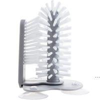 Yaratıcı Emme Duvar Tembel Kupası Fırça Bulaşık Yıkama 2 1 Mutfak Ofis Ev Fırça Cam Temiz Dönen Çay Bardağı Fırçası HWD6088