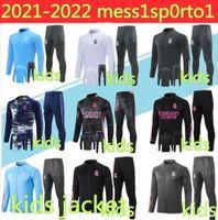 Kinder 2021 Real Madrid Trainingsanzug Fussball Training Anzug Surveetement 20 21 Kinder Camiseta de Futbol Hazard Chandal Football Jogging Trainingsanzug