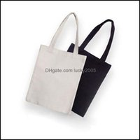 Storage Housekee Organization Home & Gardenblack White Blank Pattern Canvas Shop Bags Eco Reusable Foldable Shoder Handbag Cotton Tote Bag D