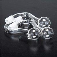 10mm 14mm männliche weibliche klare dicke pyrex glas ölbrenner wasser rohre für ölstöcke glasbongs dicke große schüsseln für das rauchen fy2335