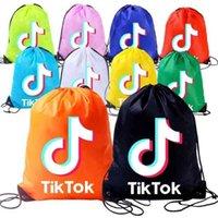 Tiktok Kids Coulisstring Bag Backpack Pocket Rope Spalle Spalle Shopping Zaino Zaino Formazione per Ragazzi Ragazze Candy Colors Borse sportive G36T02i