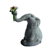 Novelty Items Daily Collection Lucky Elephant Figurines Fairy Garden Animal Ornaments Home Decor Tabletop Decoration Souvenir Crafts