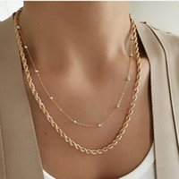 Stainless Steel Collier Femme Mens Necklace Chain Twist Link Punk Gifts For Men Women Man Necklaces Male Figaro Bead Chains Set