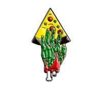 الجملة لطيف اليد غيبوبة البيتزا المينا دبابيس التلبيبات قصيرة دعوى ديكور طوق بروش شارة للهدايا للأطفال المرأة حقيبة الظهر قبعة frwx