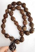 Exaggerated Imitation Carving Vintage Ethnic Amulet Buddhist Necklace Cool Buddha Pendants