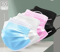 100pc Black Designer Mask White Pink Blue Face Mouth Protective breathing Non Woven Masks For Adult Children Baby