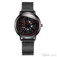 Montre à quartz de Sports de mode Mode Montre cool Hommes Dominateur Montres décontractés Shape de pneu horloge imperméable rotation Gyro Montre-bracelet de haute qualité Luxe