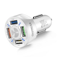 3A QC3.0 4 USB fast charge car chargers one for four mobile phone charger Adapter