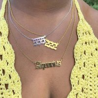 Pendant Necklaces Goth Angel Number For Women Stainless Steel 444 Necklace 111 222 555 666 Choker Chain Devil Jewelry Collier