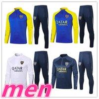 20 21 Boca Juniors Adult Mens Soccer Tracksuit Tuta da calcio Jerseys Training Suit Kit 2021 Uomo TrackSuits Giacca da jogging Kit Surverseement de Foot Chandal Futbol