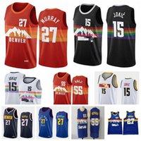 Menmens Authentic 15 Jokic Jamal 27 Murray Баскетбольная майки Allen 3 Iverson Dikembe 55 Mutombo 2020/21 Swingman City New Edition Jerseys