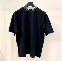 패션 여드름 여성의 티셔츠 고급 디자이너 스튜디오 짧은 소매 편지 리본 티셔츠 느슨한 셔츠