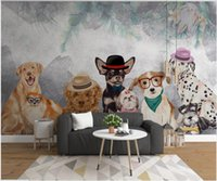 3d wallpaper custom photo mural Modern cartoon hand drawn pet dog children's room home decor 3d wall murals wallpaper for walls 3 d