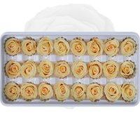 24 adet Korunmuş Çiçekler Gül Ölümsüz Gül Anneler Günü DIY Düğün Ebedi Yaşam Çiçek Malzeme Hediye Toptan Kurutulmuş Çiçek / Kutu 1365 v2