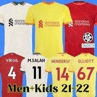 21 22 camiseta de fútbol de liverpool camiseta de fútbol liverpool para hombre y niño MANE SALAH FIRMINO VIRGIL KEITA THIAGO