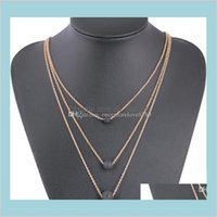Ожерелья Подвески Мода Многослойные Многослойные Черные Лавовые Каменные Подвесные Ароматерапия Эфирное Ожерелье Эфирное Ожерелье Для Женщин Вечеринка Свадьба J