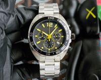 F1 Orologio di Lusso Herren Watch Quarzuz Uhren Rennfahrer 33 Bewegung Armbanduhren Dreifarbige 41mm große Zifferblatt Sports uhren multifunktional chronograph