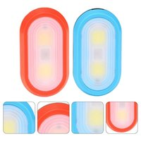 Bike Lights 2pcs Pocket Clip Light Night Running (Red, Blue, Without Battery)