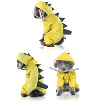 Designer Pet Dog Apparel Cats and dogs four-legged raincoats for spring, summer, fall winter dinosaurs turned into teddy bears clothes