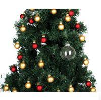 """Ornamentos de Bauble de Casamento Enfeites de Natal Bolas de Vidro de Xmas Decoração 80mm Bolas de Natal Clear Bolas de Casamento De Vidro 3 """"/ 80mm Christmas BWD75"""