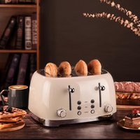 Bread Makers Toaster Stainless Steel Automatic 4 Pieces