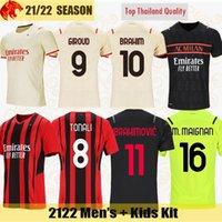 20 21 AC Milan Camisetas de fútbol IBRAHIMOVIC 2021 KESSIE R.LEAO THEO REBIC Camiseta de fútbol DONNARUMMA Camiseta de portero Camiseta de fútbol TONALI