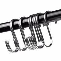 Edelstahl Metall S-förmiges Haken Rack Haushalt Multifunktionslöffel Pan Topf Lagerhalter für Küchenkabinett Büro Home EEB6081