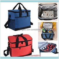 Bags Storage Housekeeping Organization Home & Gardenfashion Solid 17L Bag Women Men Thermal Insulated Lunch Box Tote Portable Picnic Coolbag
