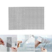 Kit de reparação da tela de adesivos de parede Kit de reparação de fita adesiva forte Fibra de fibra de vidro para lágrimas de porta furos DSD666
