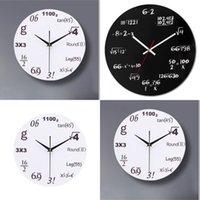 الاكريليك الرياضيات ساعة الحائط أزياء لا تدق كتم ساعة الحائط المعادلة تصميم الحديثة للمنزل مكتب المدرسة 1662 S2