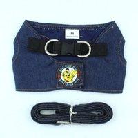 Denim Dog Harness Leash Chain Puppy Pet Supplies Collars & Leashes