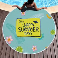 Beach Towels Tropical Printed Large Mat Outdoor Camping Picnic Microfiber Round Fabric Bath Towel for Living Room Home Decorative Tapis Carp