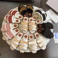 Legnose piatte Muller Shoes Women Winter Pelle Pantofole Pantofole Designer Sandali Scarpe da cucina indoor Scarpe da cucina calda per donna Slides Flip flops with box