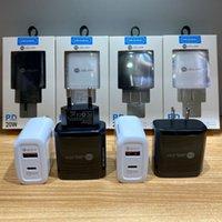 2 포트 20W USB C 벽 충전기 LED QC3.0 휴대 전화 빠른 충전 Type-C PD 여행 어댑터 모든 전화 공장 판매자