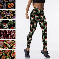 Women's Leggings Arrival 3D Print For Women Halloween Skull Legging Pumpkin Girl Pattern Workout Leggins Fitness