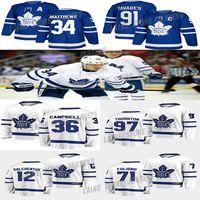Toronto Maple Leafs Jersey 36 Jack Campbell 71 Foligno 91 John Tavares 34 Auston Matthew 16 Marner 12 Galchenyuk 97 Thornton Hockey Jerseys