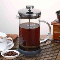 Простой дизайн French Press Coffee Maker Горячий и прохладный чайник Фильтр чайник Горшок Фильтр для воды Кувшин Емкость 12oz, 20oz, 32oz 210408