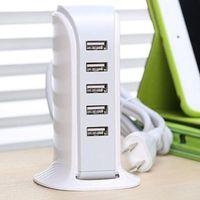 Вертикальная зарядная розетка 5V5A пористые сотовые адаптеры USB мобильные телефоны планшета Smart зарядное устройство