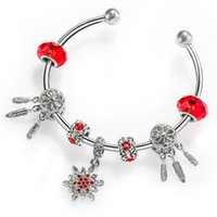 Link, Corrente Moda Pulseira Europeu Bracelete Vintage DIY Cristal de Prata Jóias Cobra Charme Pulseiras Para As Mulheres BS228