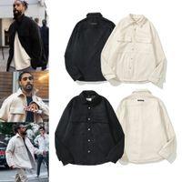 Designer fear of god jackets hooded jacket women men essentials long sleeve coats essential pockets coat womens mens thin solid