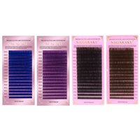 4 colors 10 Trays Lot Eye Lashes Soft Korea Silk Volume Eyel...