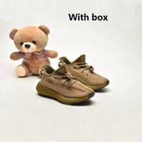 2021 Kutusu Bebek Israfil Zyon Toddlers Kanye Çocuk Koşu Ayakkabıları Yekeil Keten Reflectivfe Kuyruk Işık Bebek Statik Sneaker Yaşam Tarzı Kil Eğitmenler