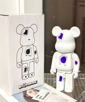 HOT 400% 28CM Bearbrick The Resin of Erosion destroys Crystal Bear Fashion bear figures Toy For Collectors Be@rbrick Art Work model decorati