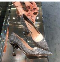 Dress Shoes 2021 Luxury Shiny Sequins High Heels Designer Women Pumps Runway Brand Pointed Toe Ladies Party Wedding Sandals