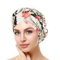 Bonnet / Casquettes de crâne Fashsiualy Coton Impression Musulman Turban Foulard pour femmes islamique Inner Hijab Arab Arabe Tête Écharpes Chemo Femme Cancer Chemo