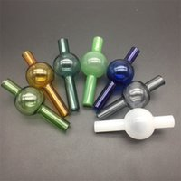 Dia 22mm Glass Ball Carb Cap Bubble For 2mm 4mm Quartz Thermal Banger 10mm 14mm 18mm Water Pipes Oil Rigs bong